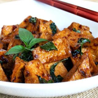 Thai Basil Tofu [Vegan].