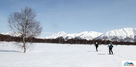 Photo: Access to Bakening volcano (renamed by Matus as Hapening) is on the plateau next to the river Pravaja Kamchatka