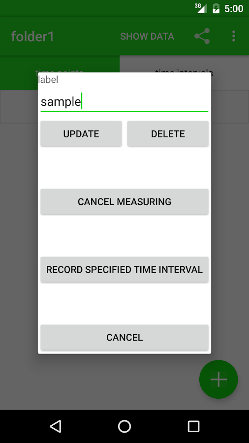 Time recorder ex- screenshot