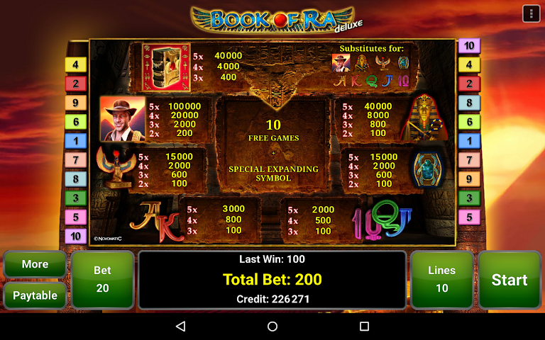 android Book of Ra™ Deluxe Slot Screenshot 8