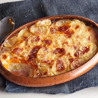 Layered Potato-Duo Bake