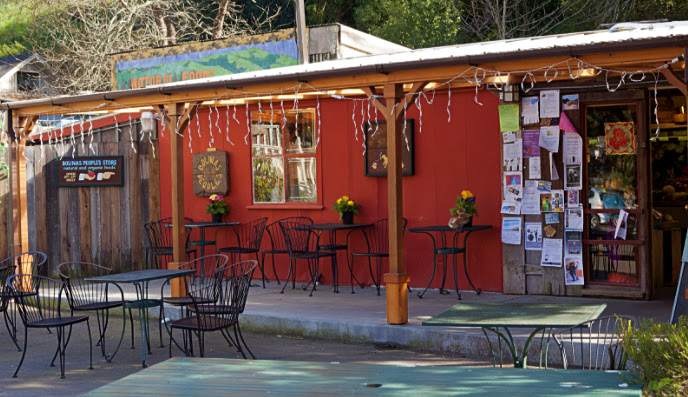 The front facade of the Bolinas People's Store.