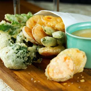 Crispy Tempura Vegetables with Miso-Mustard