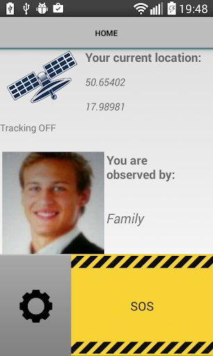 Tracking safety app