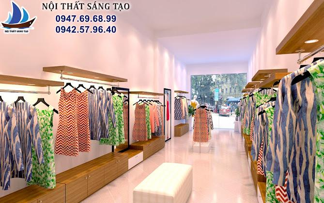 thiết kế cửa hàng quần áo chuyện nghiệp