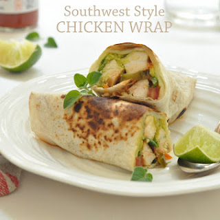 Southwest Style Chicken Wrap