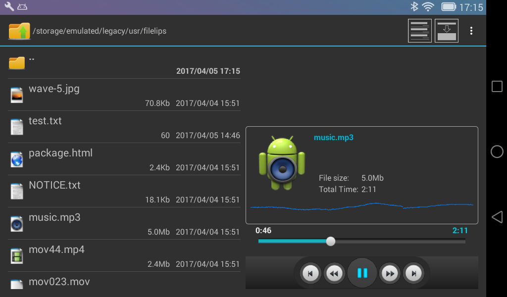 FileLips - File Manager- screenshot