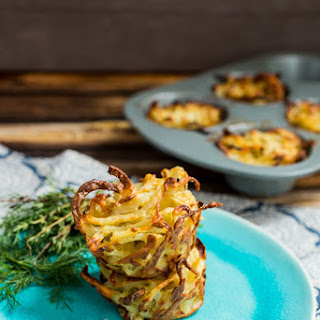 Spiralized Potato and Fennel Kugel.