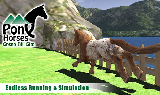 Pony-Horses-Green-Hill-Sim-3D 2