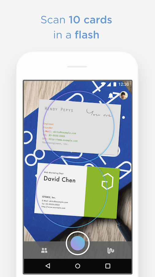 Wantedly People scan biz cards- screenshot