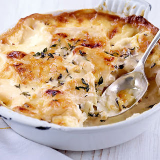 Celeriac, Garlic And Thyme Dauphinoise.