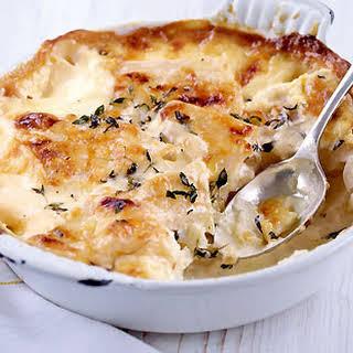 Celeriac, Garlic And Thyme Dauphinoise.