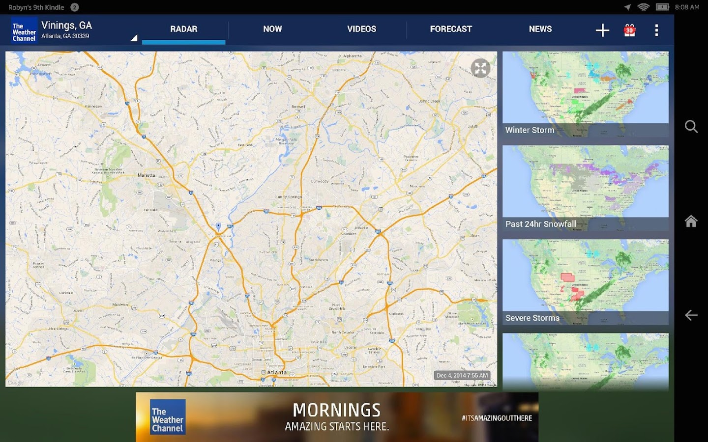 Screenshots of The Weather Channel for Android