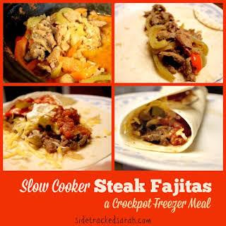 Crock Pot Steak Fajitas.
