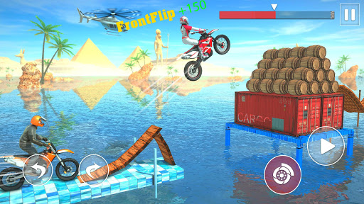 Code Triche cascade de vélo course : jeux de cascade de vélo  APK MOD (Astuce) screenshots 1
