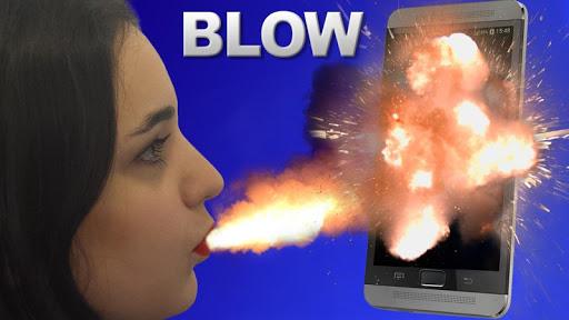 爆発の画面