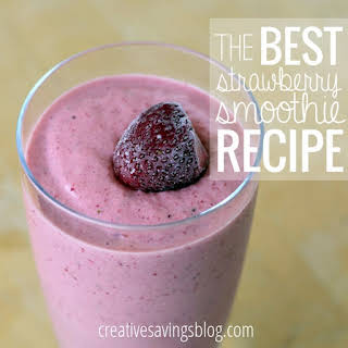 The Best Strawberry Smoothie.