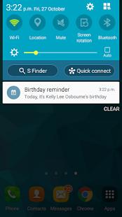 Manage birthdays - náhled