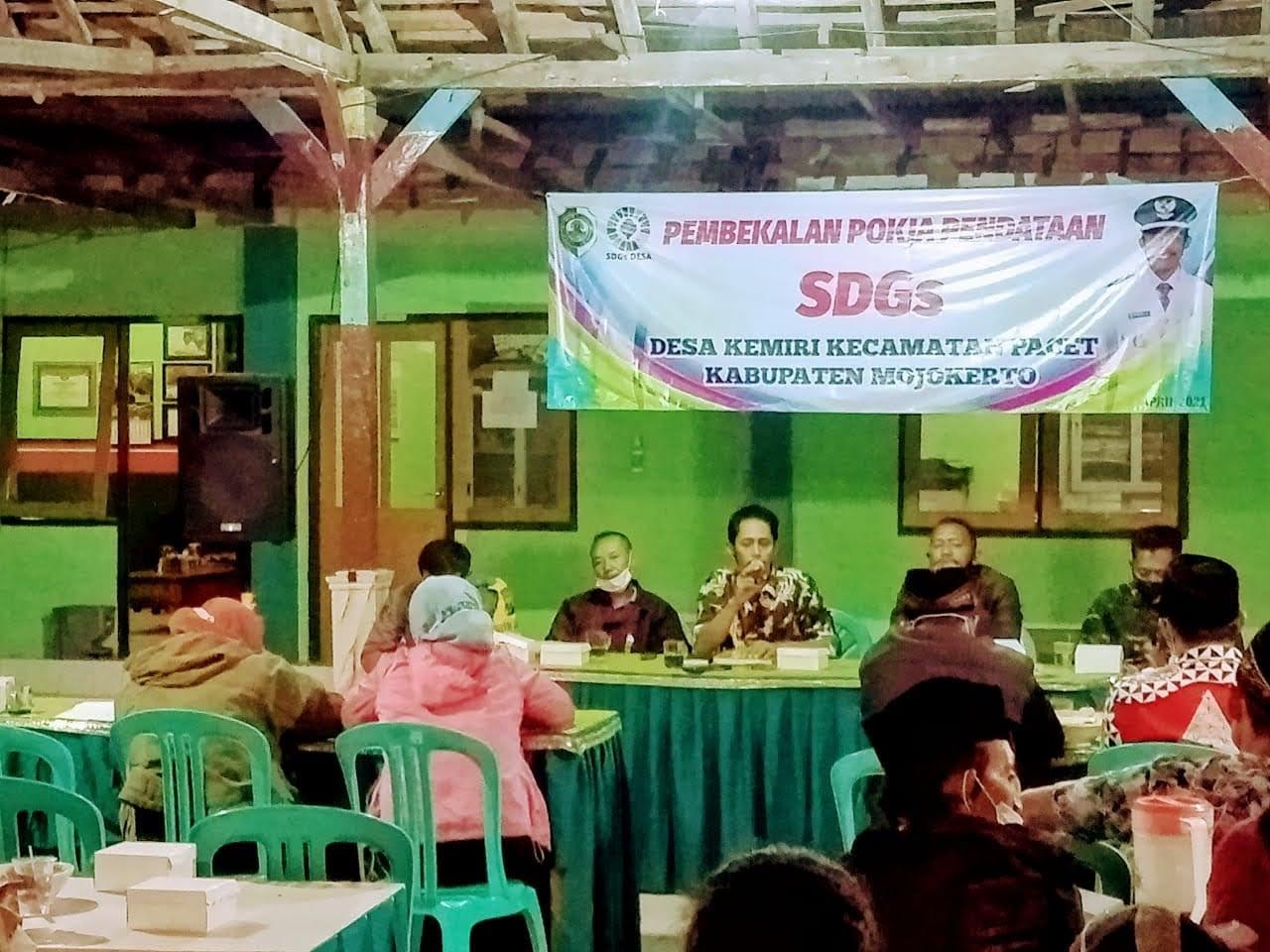Pembekalan Pokja SDGs Desa Kemiri Pacet Kabupaten Mojokerto
