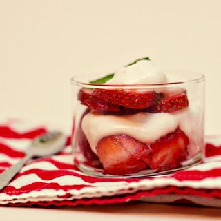 Strawberries Parfaits with Mint Whipped Cream