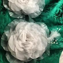 Photo: Готов заказ для Елены,она просила сделать копии двух цветков,которые давно носит на своем праздничном платье...так что это копии