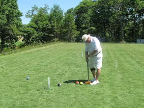 Photo: Jim takes careful aim