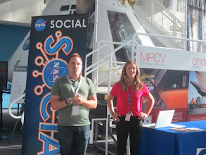 Photo: Jason & Sasha at the Virginia Air and Space Center (VASC), which functions as NASA Langley's Visitor Center
