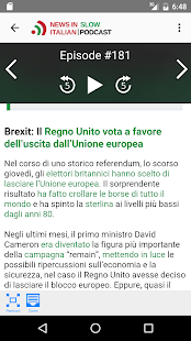News in Slow Italian- screenshot thumbnail