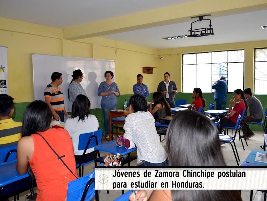 JÓVENES DE ZAMORA CHINCHIPE POSTULAN PARA ESTUDIAR EN HONDURAS.
