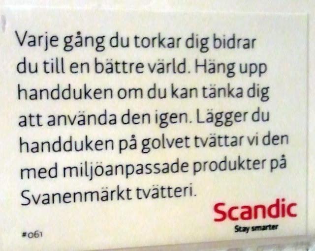 Handdukar på Scandic