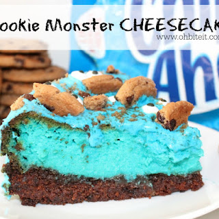~Cookie Monster Cheesecake!