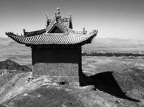Photo: Looking Towards Dunhuang from Ridge Structure