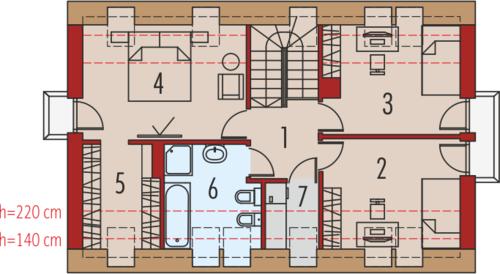 E11 MULTI-COMFORT - Rzut poddasza