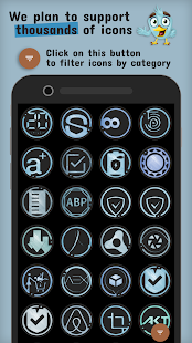 The Azulox Icon Pack (Dark version) Screenshot