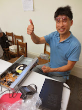Photo: Fix #1, DVD player, one thumb up