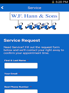 WF Hann & Sons HVAC & Plumbing- screenshot thumbnail