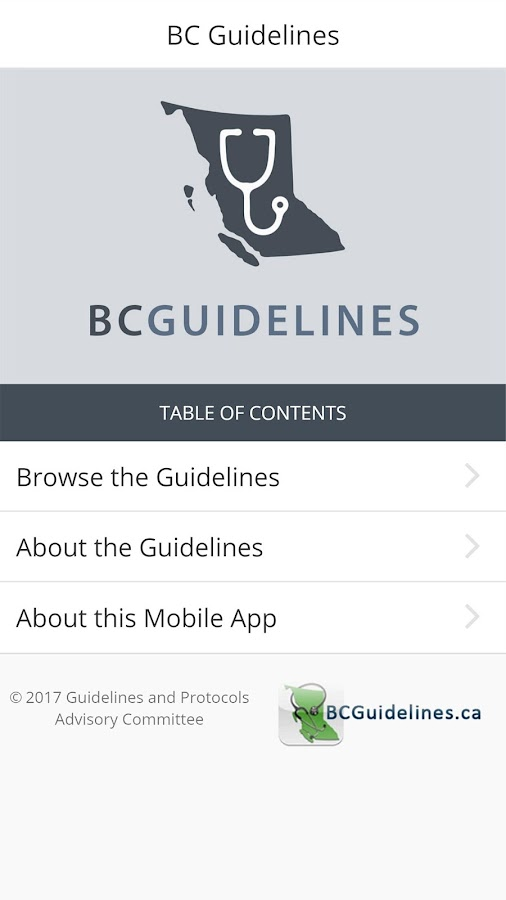 BC Guidelines- screenshot