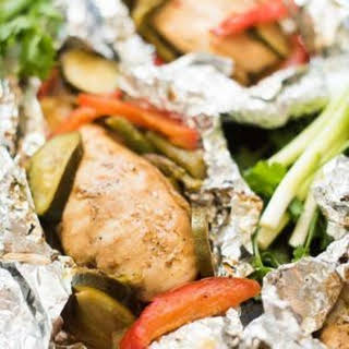 Asian Chicken and Vegetable Foil Packets.
