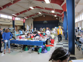 Photo: 3-24-2012. The town of Sandwich's Wellness Fair had many booths, and was well attended throughout the day.