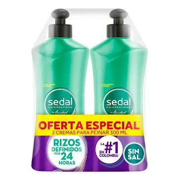 Oft Crema De Peinar  Sedal Rizos X 2 X 300ml Precio Espec