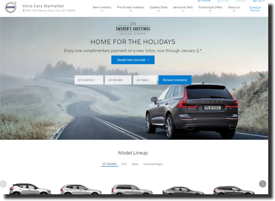 Volvo Cars Manhattan website Car Dealer Website Design