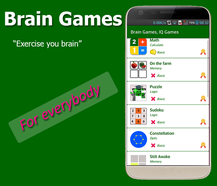 Brain Exercise Games - IQ test- screenshot