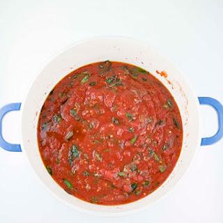 Spicy Italian Crushed Tomato Sauce.