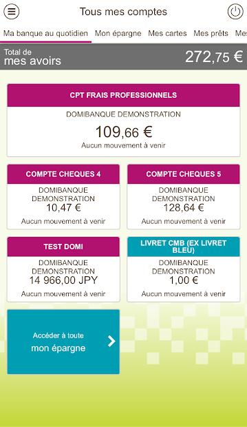 Crédit Mutuel de Bretagne Android App Screenshot