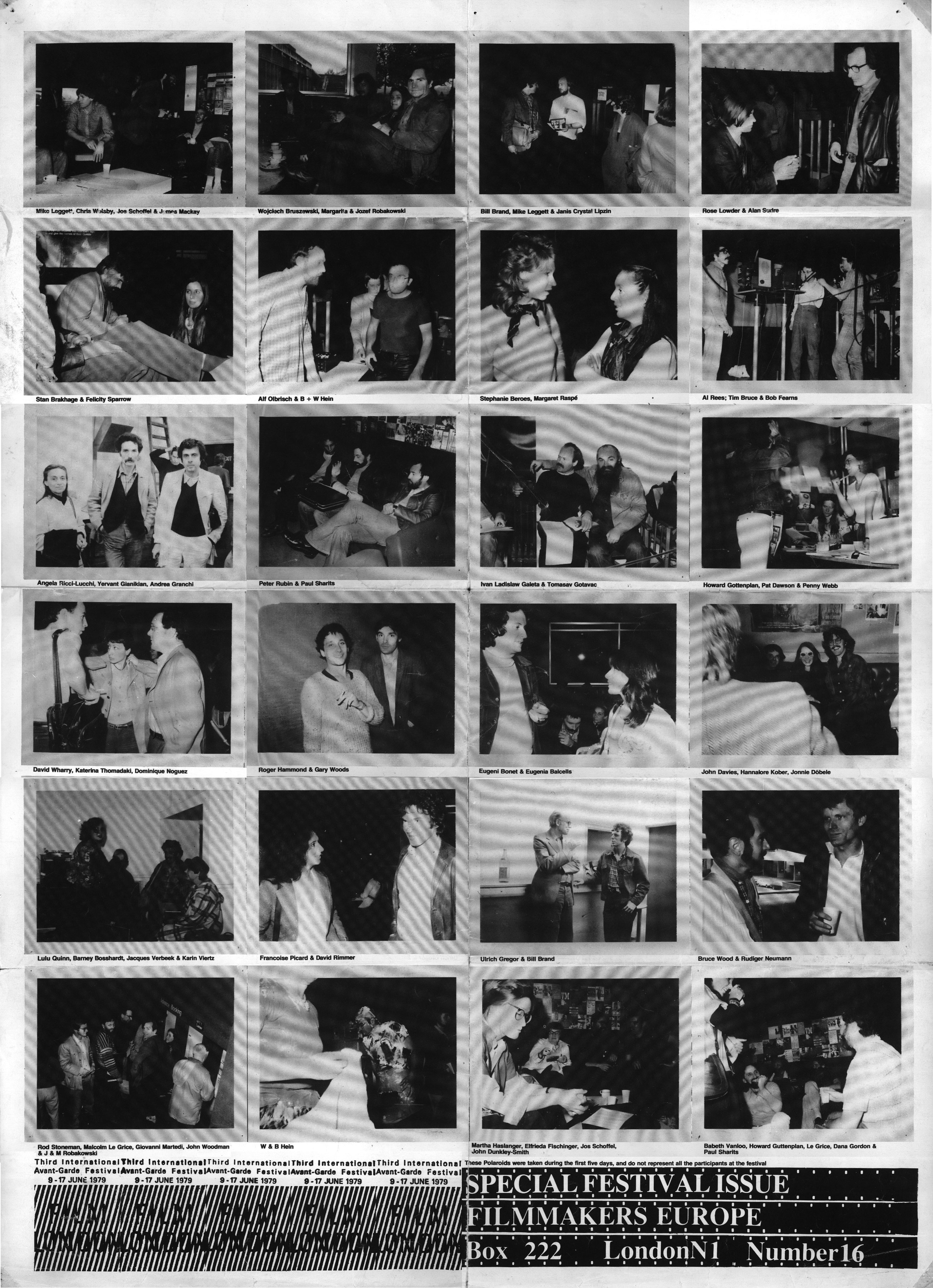 Photo: Filmmakers Europe Special Festival Issue Film London '79 ©1979 William Raban