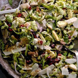 Festive Brussels Sprouts Salad with Dijon Honey Vinaigrette