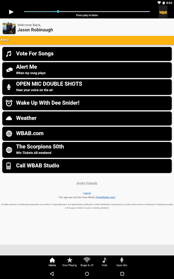 WBAB- screenshot