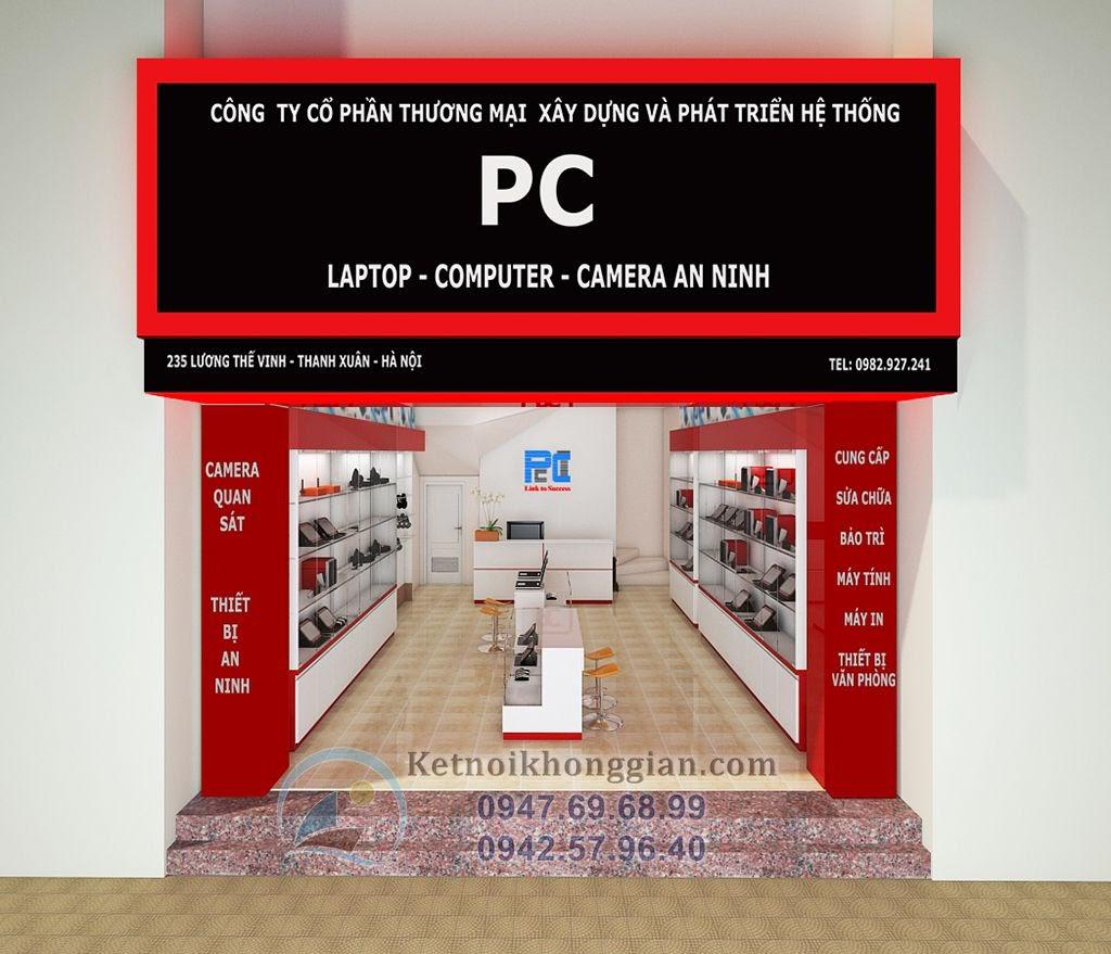 thiết kế cửa hàng máy tính PC