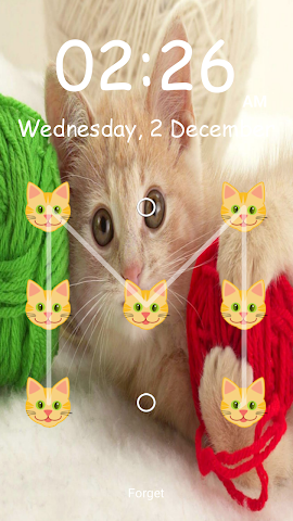 android Kitty Pattern Lock- Screenshot 1