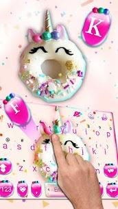 Pinky Donut Unicorn Keyboard Theme 1.0 Mod APK (Unlock All) 2